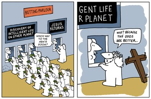 The Far Left Side 2014-07-21: Intelligent Life