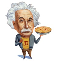 Einstein with Pi pie