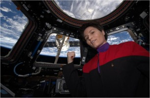 Samantha Cristoforetti in Cupola aboard ISS