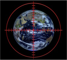Earth in crosshairs