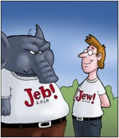 The Far Left Side 2015-06-22: Jeb vs Jew