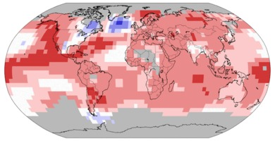 Earth temperatures Jan-Jun 2015
