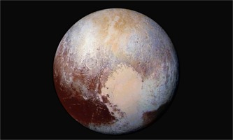 Pluto with enhanced colors