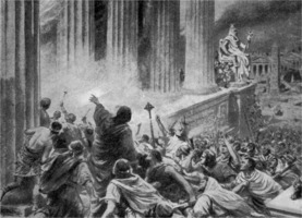 The Burning of the Library at Alexandria in 391 AD