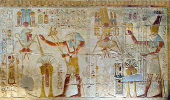 Osiris mural in Temple of Seti I at Abydos