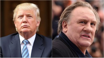 Donald Trump and Gérard Depardieu
