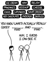 Randall Munroe: xkcd 1609: Food Combinations