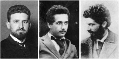 Marcel Grossmann, Albert Einstein, Michele Besso