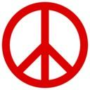rotes Friedenszeichen