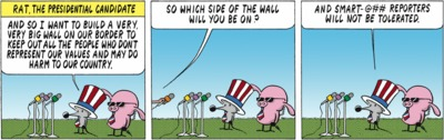 Pearls Before Swine 2016-03-25: The Presidential Candidate