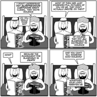 Jesus and Mo 2016-04-06: Blasphemous cartoons