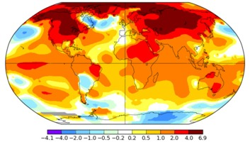 Global March 2016 temperatures