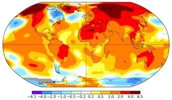 April 2016 worldwide temperatures