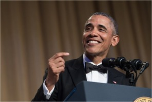President Obama at the White House Correspondents Dinner 2016