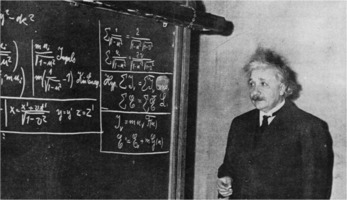 Albert Einstein deriving Special Relativity, 1934
