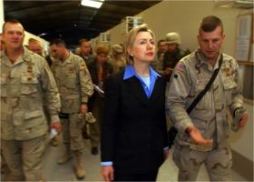 Hillary Clinton in Baghdad 2003