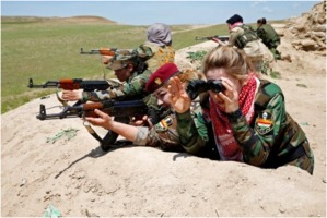 Iraqi Kurdish female fighters