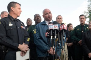 Police press conference in Orlando, FL
