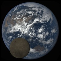 DSCOVR: Moon in front of Earth