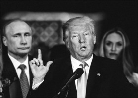 Putin behind Trump
