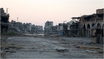 Destroyed Libyan city