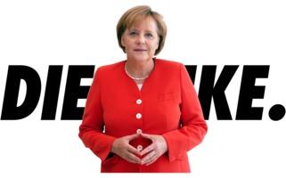 Angela Merkel vor Die Linke