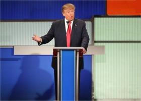Donald Trump at a debate