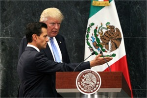 Enrique Peña Nieto and Donald Trump