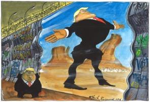 Martin Rowson: The Beautiful Wall