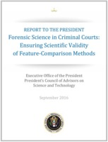 PCAST Forensic Science report