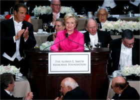 Hillary Clinton at Al Smith Dinner 2016