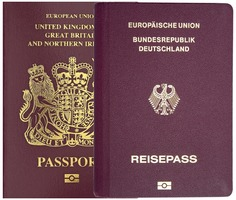 German over UK passport