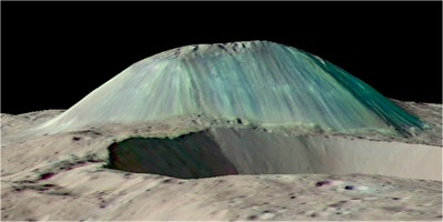Mount Ahuna on Ceres