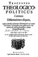 Baruch Spinoza: Tractatus Theologico Politicus