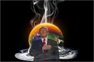 Earth melting Trump
