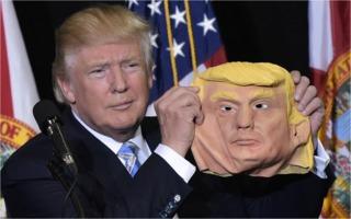 Donald Trump: mask off