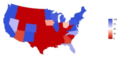 USA voting map