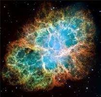 Crab Nebula, by HST