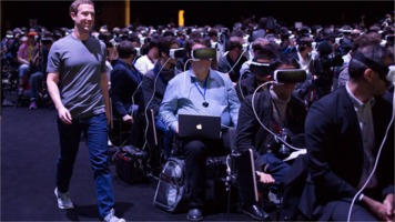 Mark Zuckerberg with VR audience