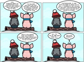 The Atheist Pig: The hell, you say