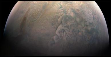Jupiter seen from North