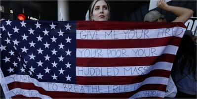 American welcome flag
