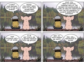 The Atheist Pig: Enough Faith