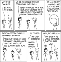 Randall Munroe: xkcd 1818 - Rayleigh Scattering