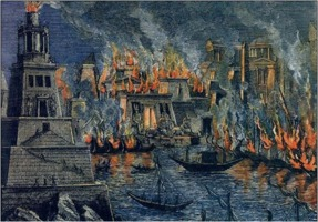 Burning Library of Alexandria