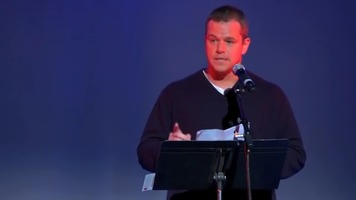 Matt Damon reading Howard Zinn: The Problem is Civil Obedience