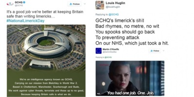 Twitter trolling GCHQ