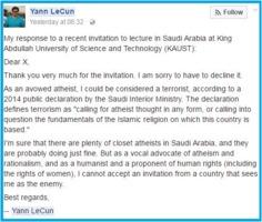 Yann LeCun to KAUST