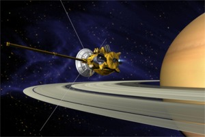 Cassini spacecraft at Saturn