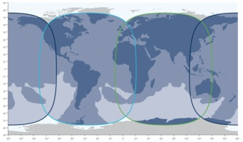 Inmarsat-5 satellite coverage